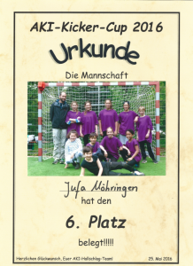 Urkunde_Aki_Kicker_Cup_2016